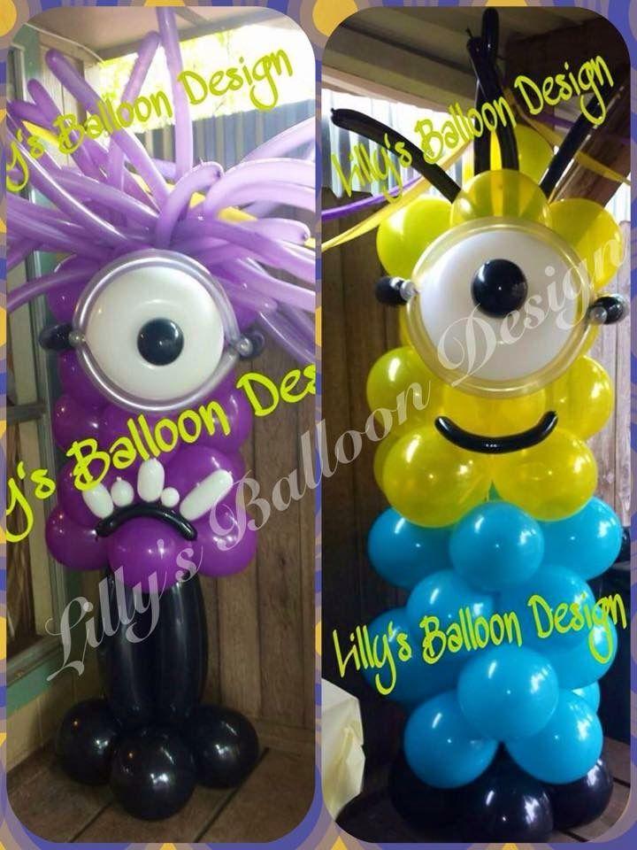 Minion balloons purple minions