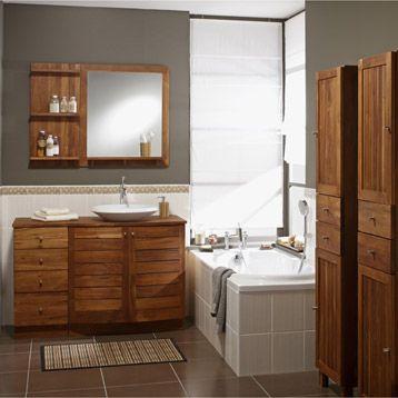 Meuble de salle de bains Wellington, marron 490u20ac lu0027ensemble* Salle - meuble salle de bain marron