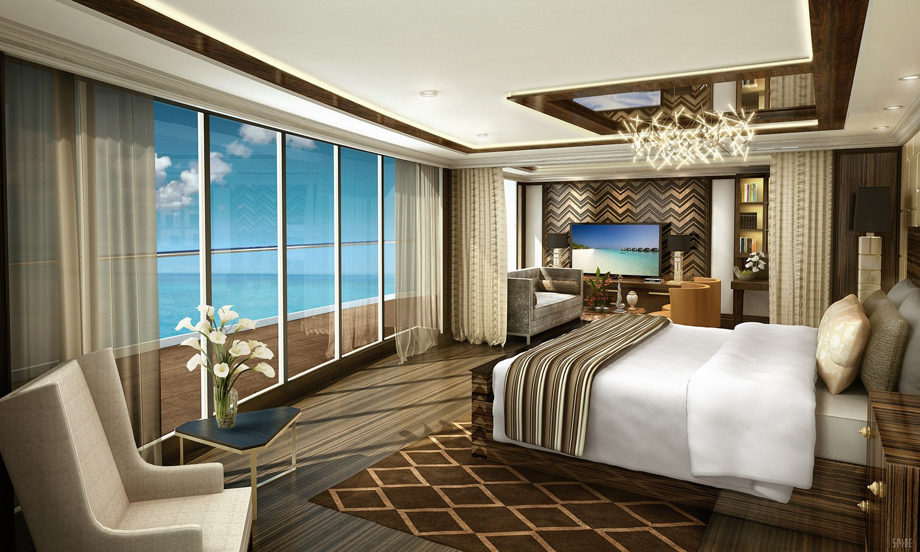 Pictures Luxury Cruise Ship Suites And Penthouses Luxury Cruise Suite Luxury Cruise Ship Suites