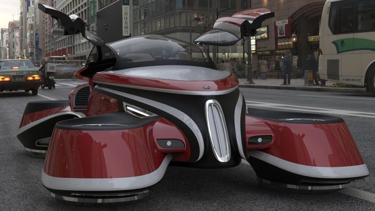 lazzarinis hover coupé ist ein visionäres flugautokonzept  vtol