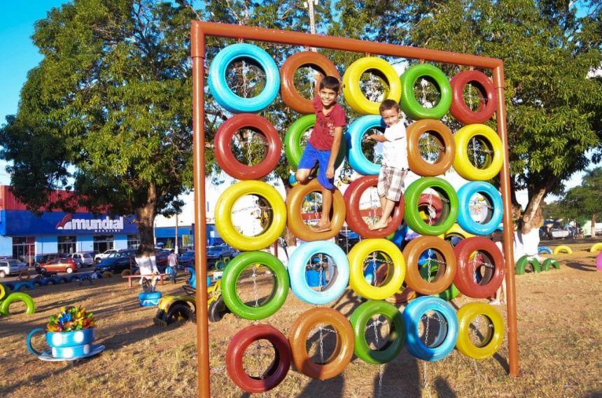 Preferência Prefeitura inaugura mais um parque de pneus reciclados em Ji  OX22