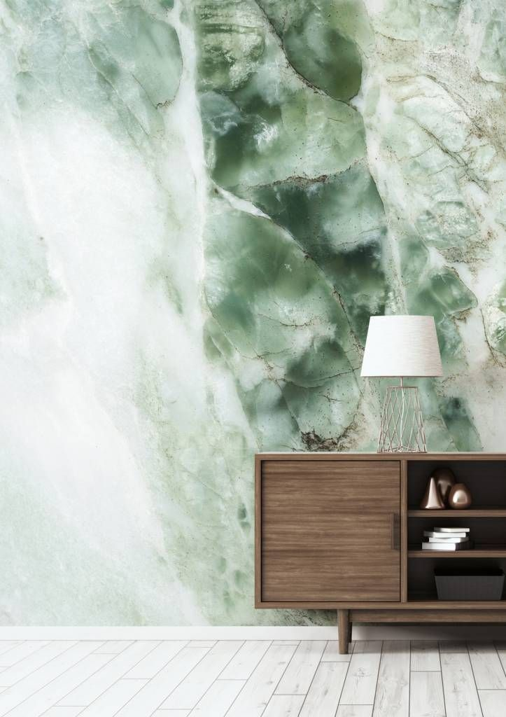 KEK Amsterdam Photo Wallpaper Marble green - Orangehaus