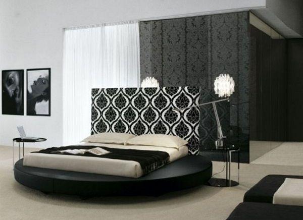 Elegant white and black bedroom design photo Modern Bedroom