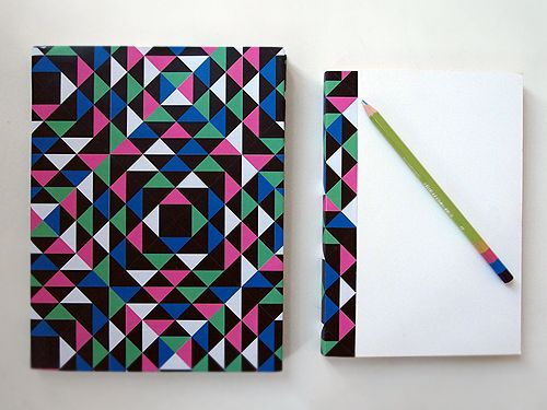DIY Geometric Book Covers (free download) DIY INSPIRATION - notebook paper download