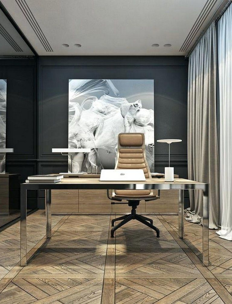 34 Luxury Modern Home Office Design Ideas Homeoffice Homeofficedesign Homeofficeideas Modern Home Offices Luxury Modern Homes Home Office Design
