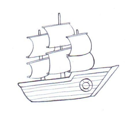 Picture Coloring Book English Boat Drawing Simple Boat Drawing Ship Drawing