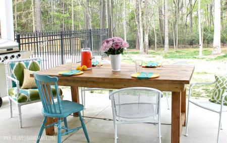 Easy Beginner #DIY Farmhouse Table very simple detailed #tutorial no pocket holes required