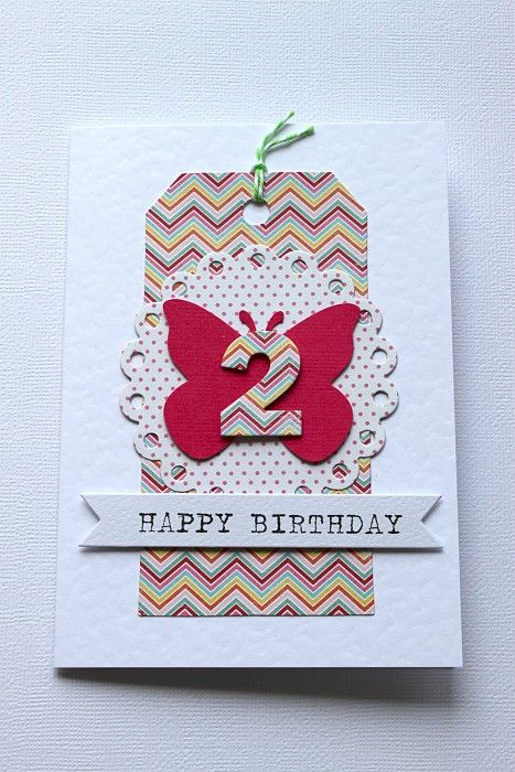 Girls birthday card 2nd birthday butterfly by littlethings on girls birthday card 2nd birthday butterfly by littlethings on madeit bookmarktalkfo Choice Image
