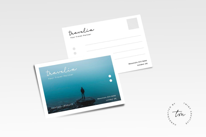 travel postcard template ai eps postcard design templates