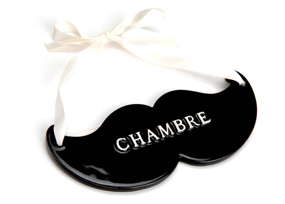 plaque de porte chambre moustache sur jardindeco. indiquez de