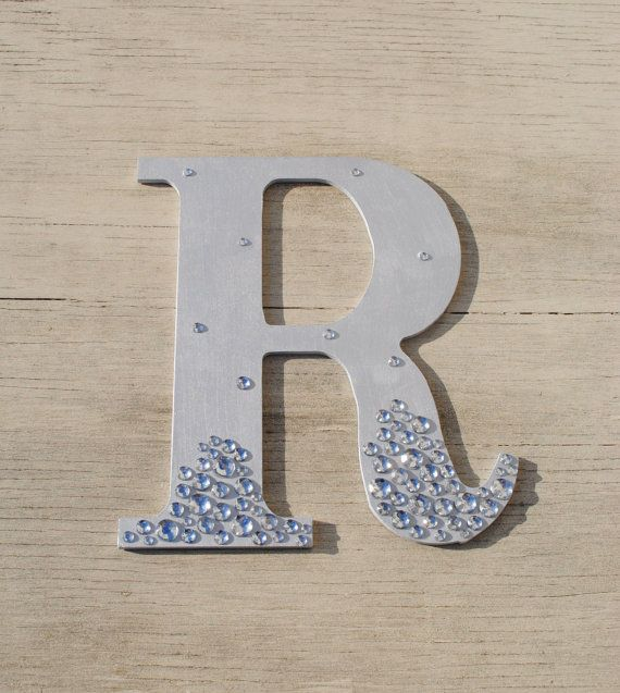 Silver Semi Bling Sparkle Wall Letters Wedding Decor Decorations