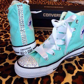 jeweled converse - Google Search | Tiffany blue converse, Blue ...