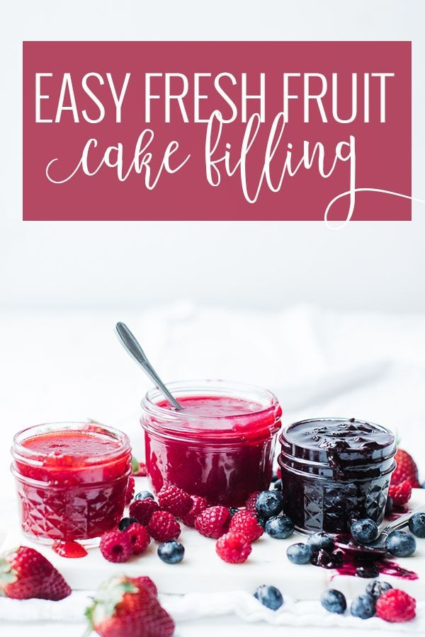 Fresh Fruit EASY Cake Filling Recipe | Oh So Delicioso