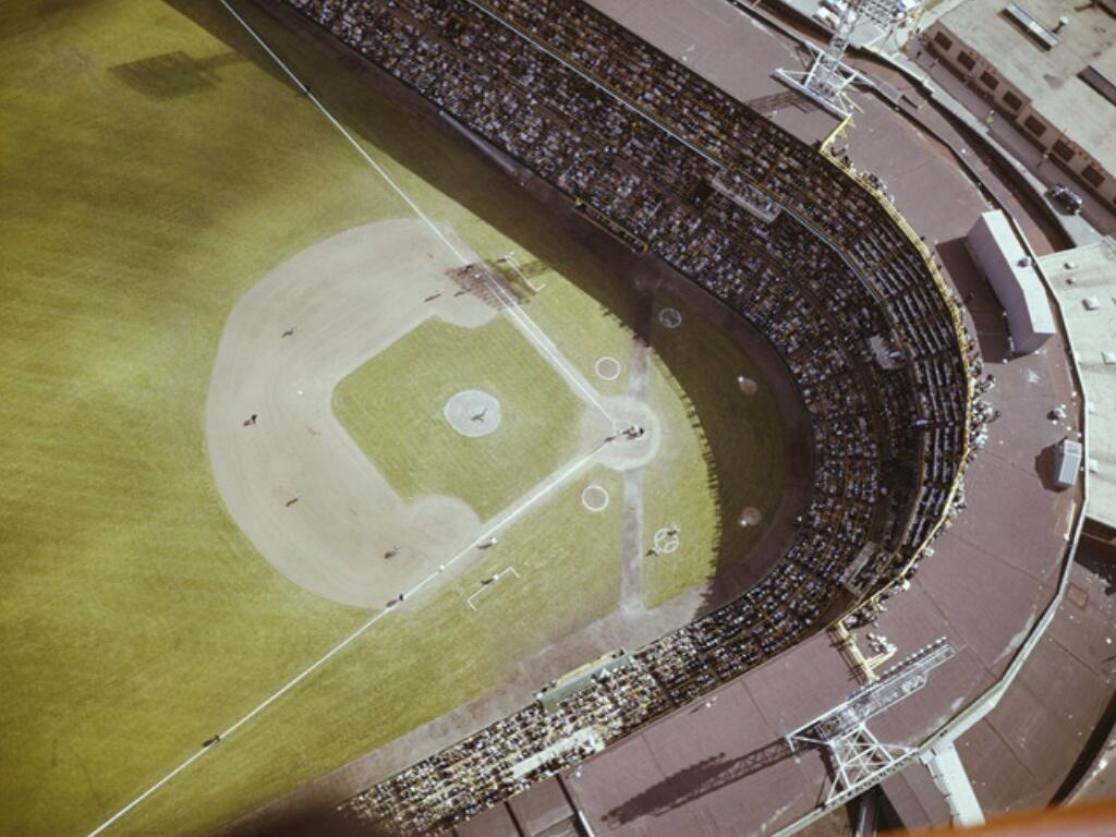 Enjoyable Comiskey Park Taken During The 1959 World Series The Onthecornerstone Fun Painted Chair Ideas Images Onthecornerstoneorg