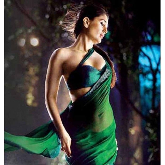 Dark Green Saree Bodyguard Kareena Kapoor Saree Bollywood Designer Sarees Beautiful Bollywood Actress