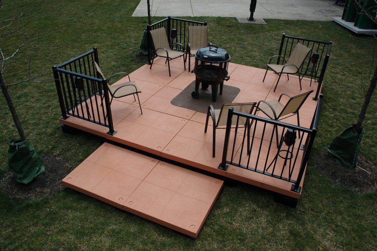 Composite Patio Deck Tile Starter Kit Patio Deck Patio Kits Lowes Patio Furniture