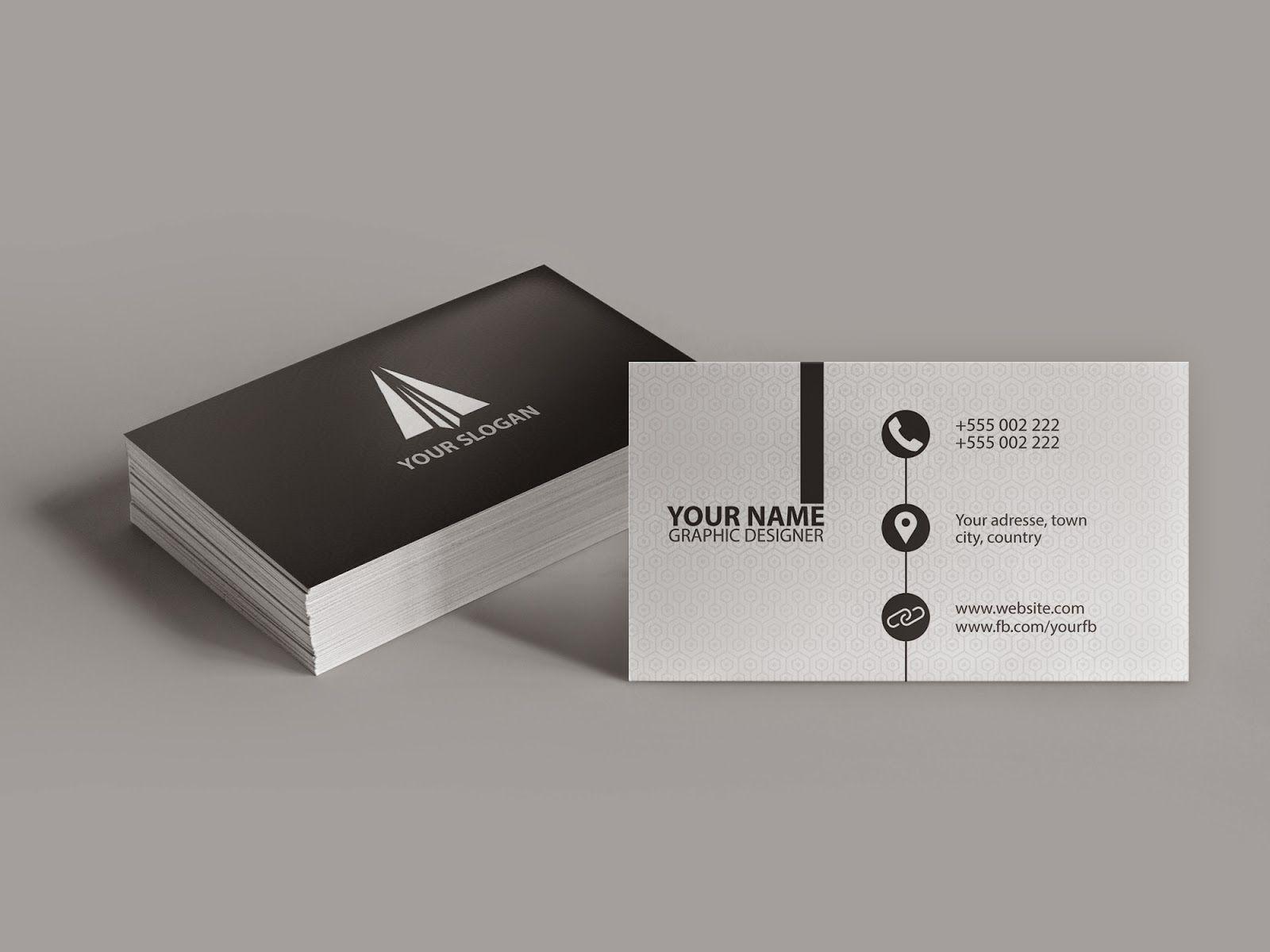Clean Modern Business Card — Illustrator Tutorial   Vizitky ...