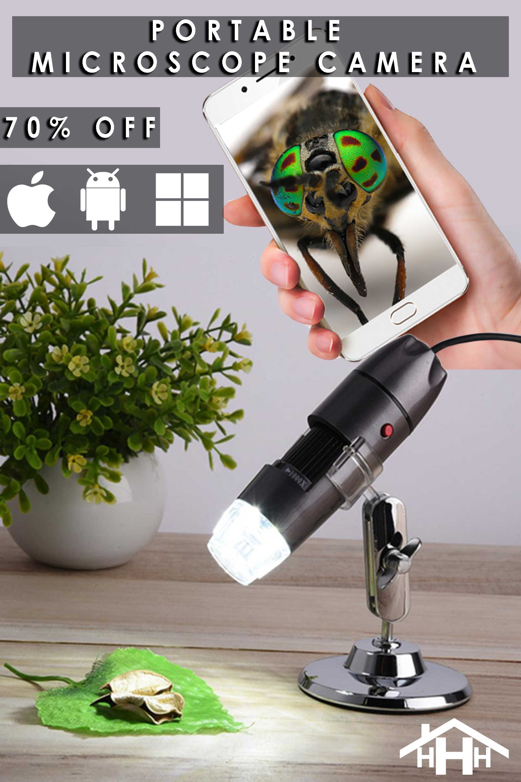 Take This Microscope Anywhere And Discover The Hidden World Around You Android Pc Mac Support Full Hd Gadgets And Gizmos Screen Repair Cool Gadgets