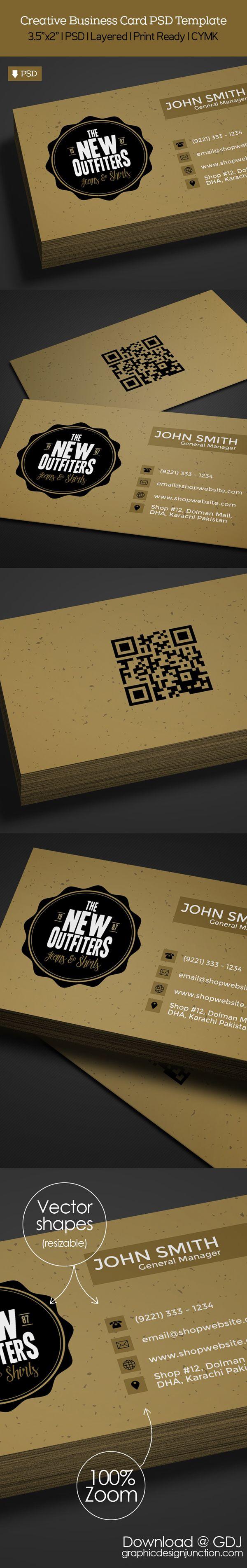 freebie vintage business card psd template