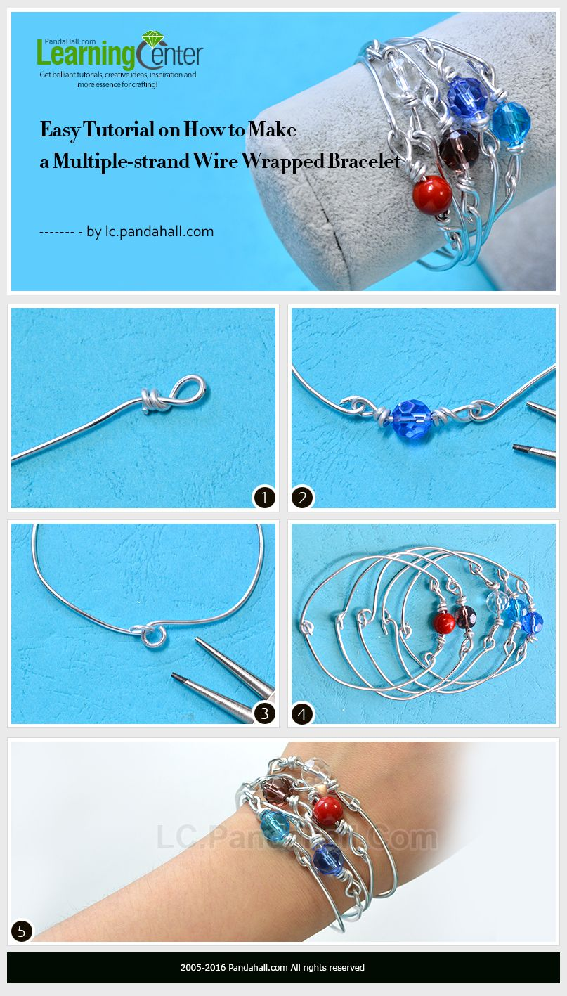 Easy Tutorial on How to Make a Multiple-strand Wire Wrapped Bracelet ...