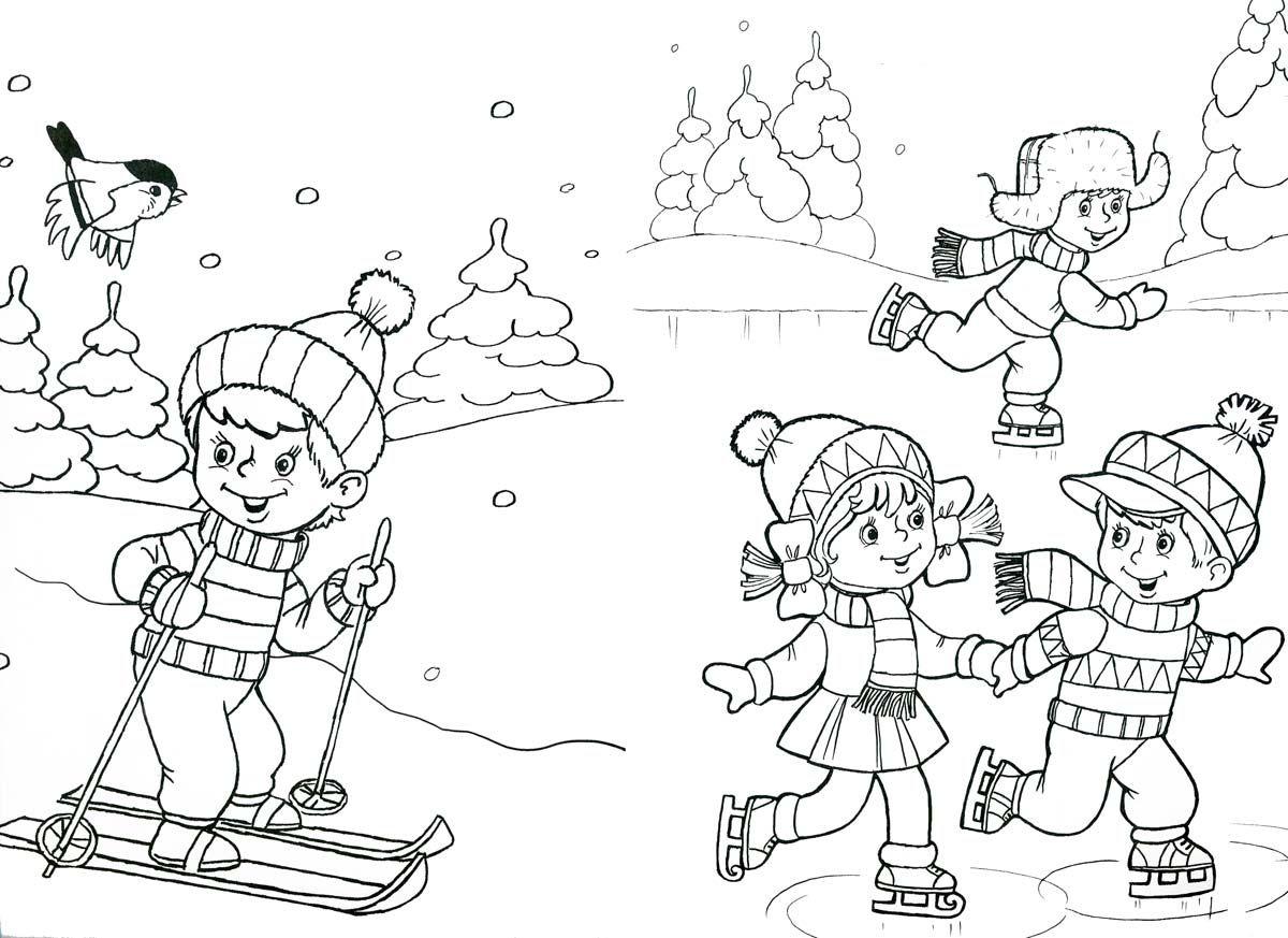 kleurplaat winter thema winter kleurplaten voor kleuters