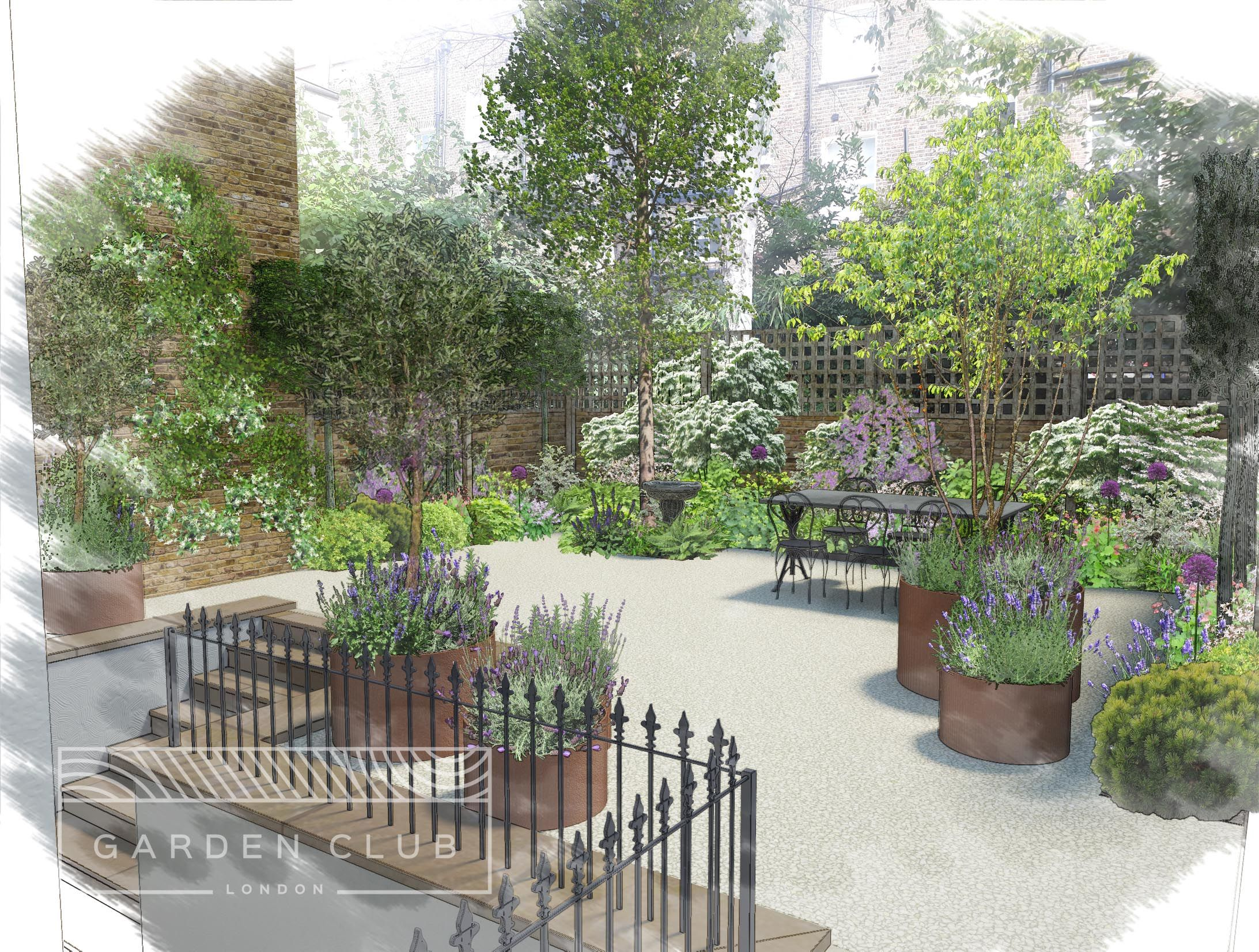 Residential garden design | Garden Club London | Rhino 3D ...