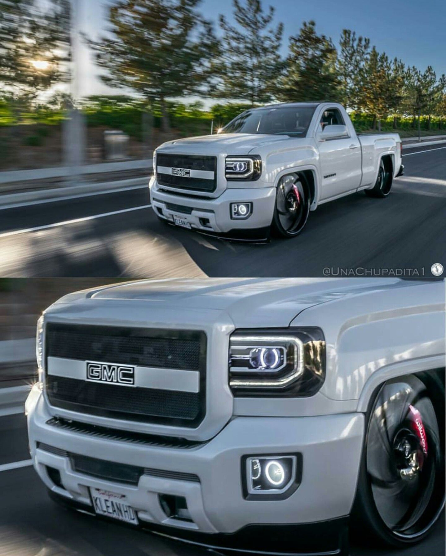 2014 Gmc Sierra On 30 S Gm Trucks Dropped Trucks Single Cab Trucks