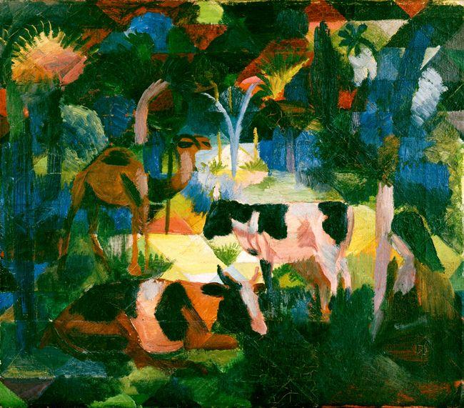 Картинки по запросу paisaje con vacas y camellos