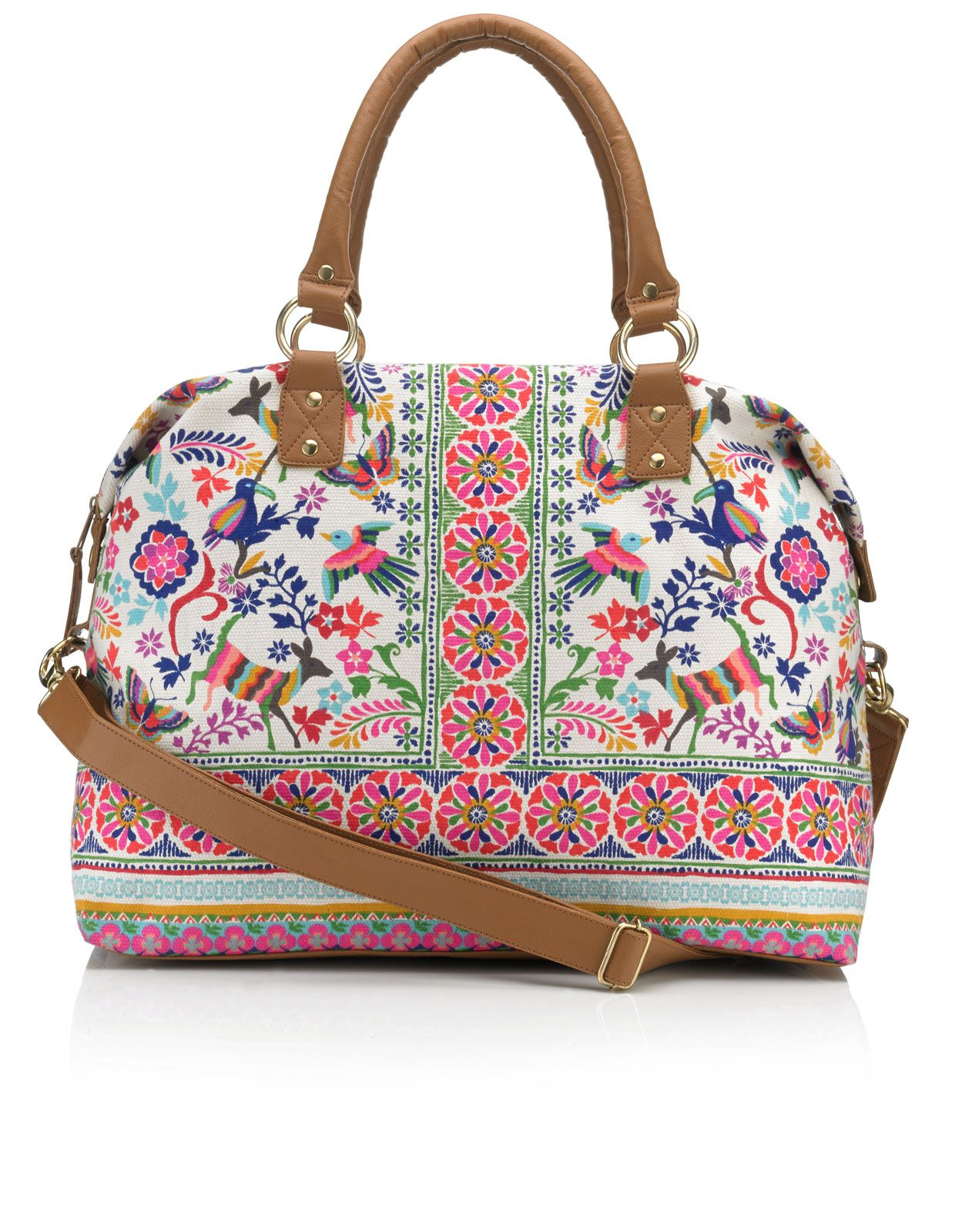 Can Can Folk Weekender Bag | Multi | Accessorize | Boho Hippie ...