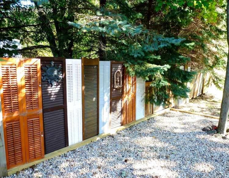 Zaun und Sichtschutz aus alten Fensterläden selber bauen | DIY ...