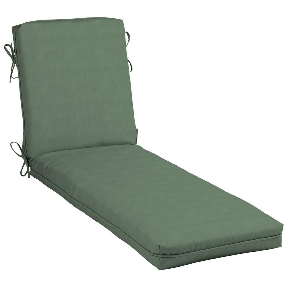 hampton bay 21 x 48 outdoor chaise lounge cushion in cushionguard