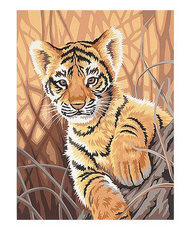 Another great find on #zulily! Tiger Cub Paint by Numbers Art Kit #zulilyfinds