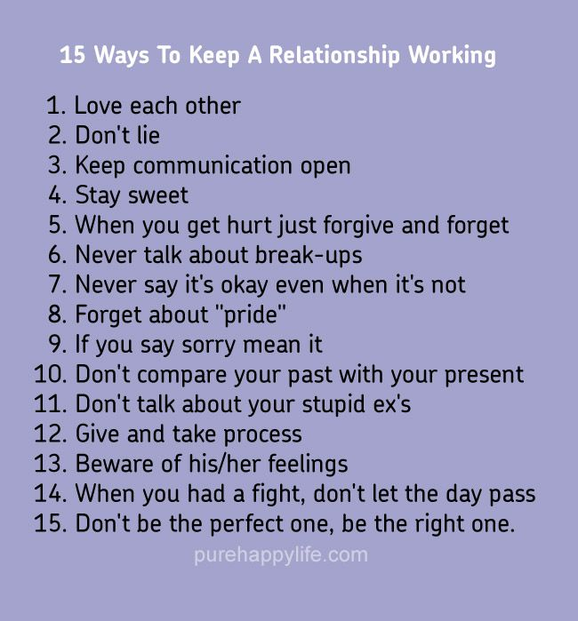 Ways To Keep A Healthy Relationship