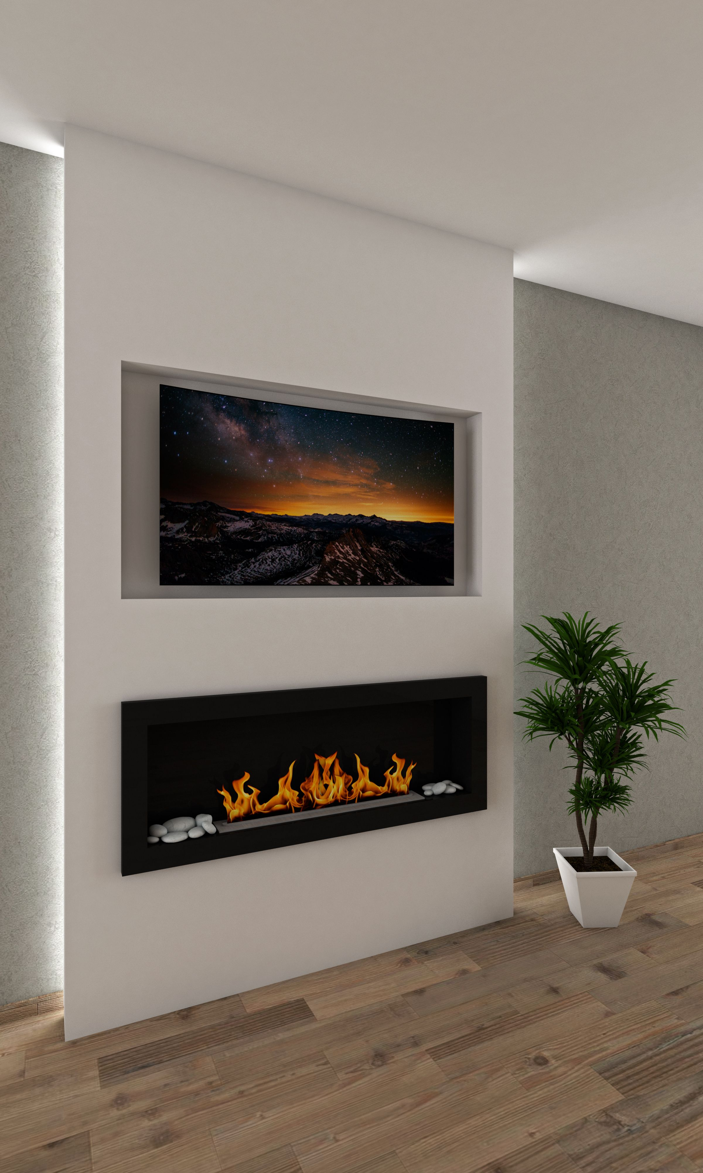 Master Bedroom Recess Tv No Surround On Wall Wall Mount Electric Fireplace Modern Fireplace Modern Electric Fireplace