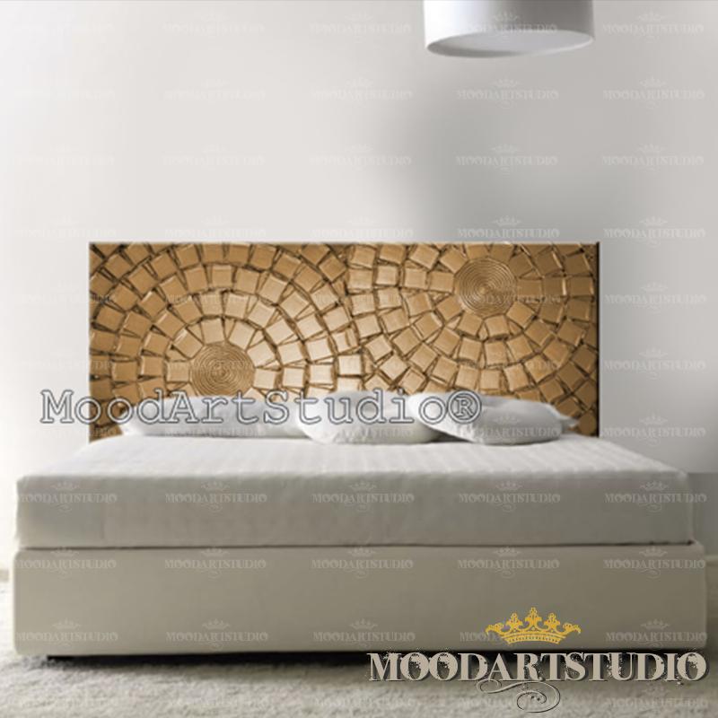 Cabecero de cama muy original hecho a mano moodartstudio - Cabeceros cama caseros ...
