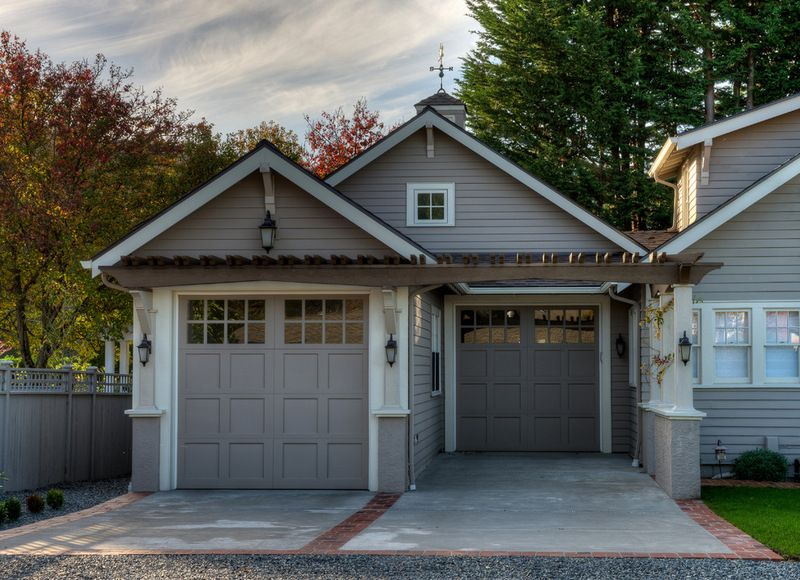 Two Stall Garage In Which The Stall Closer To The House Is Stepped Back The Stall Closer To The