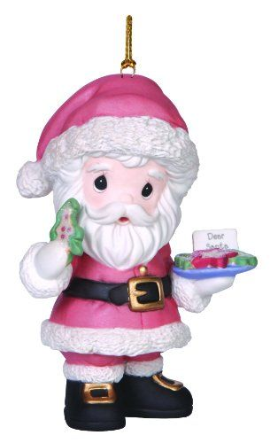 Precious Moments Company Annual Santa With Cookies And Milk Ornament