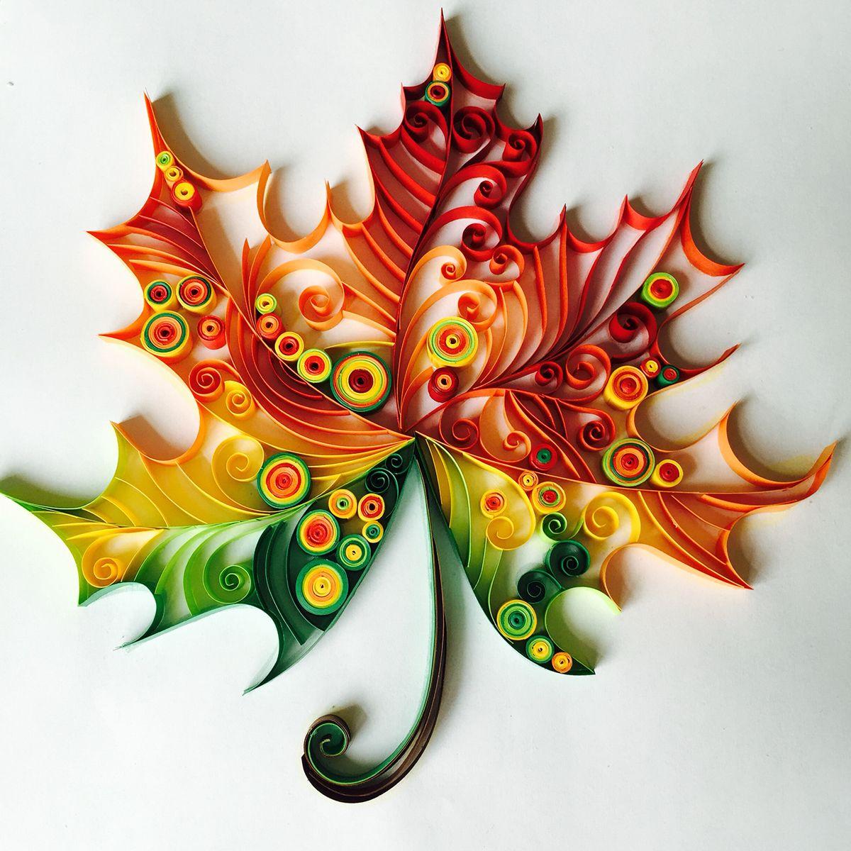 Maple leaf on behance paper quilling pinterest for Art design ideas for paper