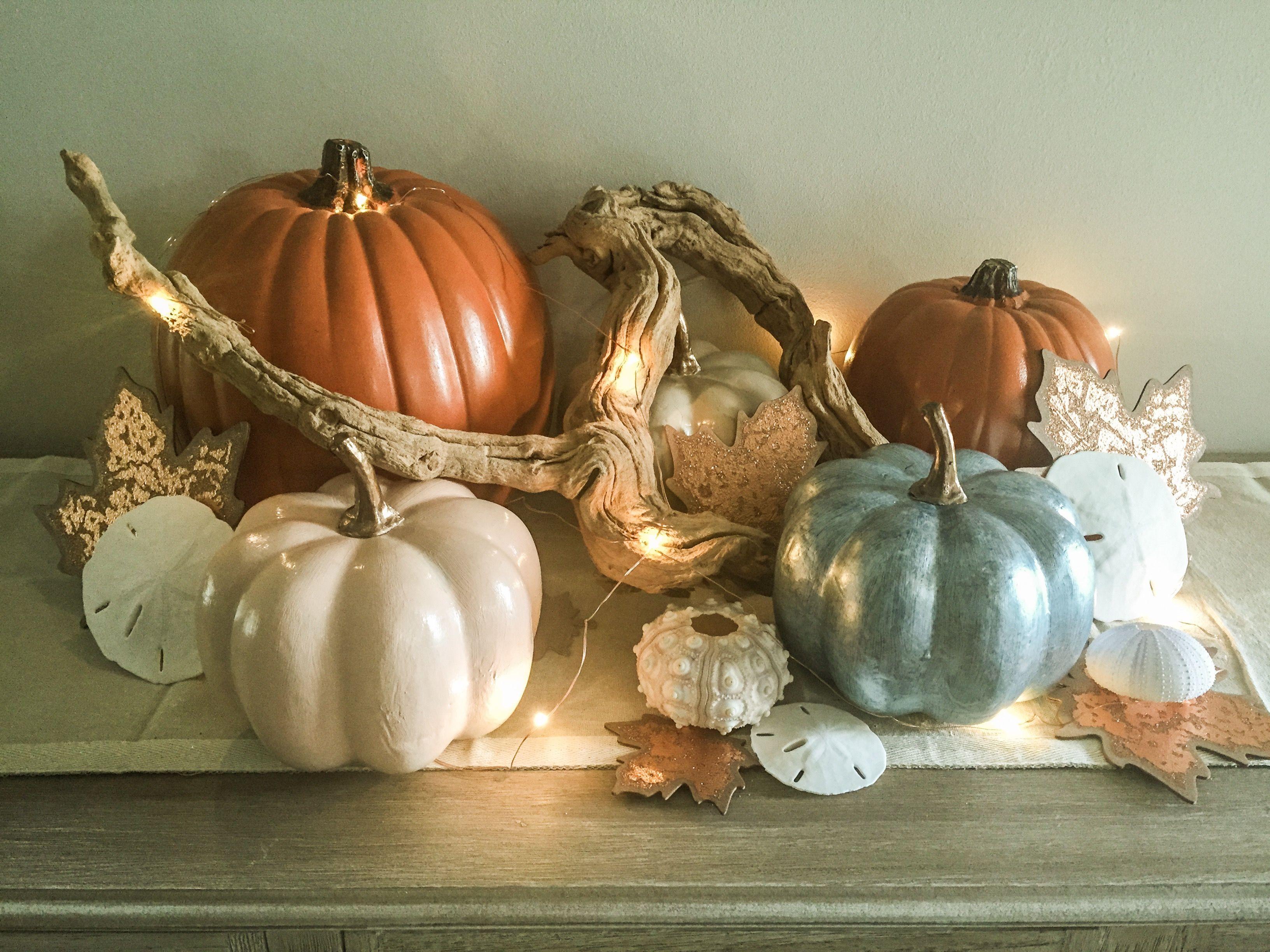 Coastal Fall Decorating Idea, Created And Photo By