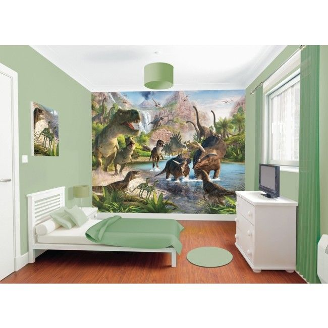 peinture murale pas cher dinosaures chambre enfant. Black Bedroom Furniture Sets. Home Design Ideas