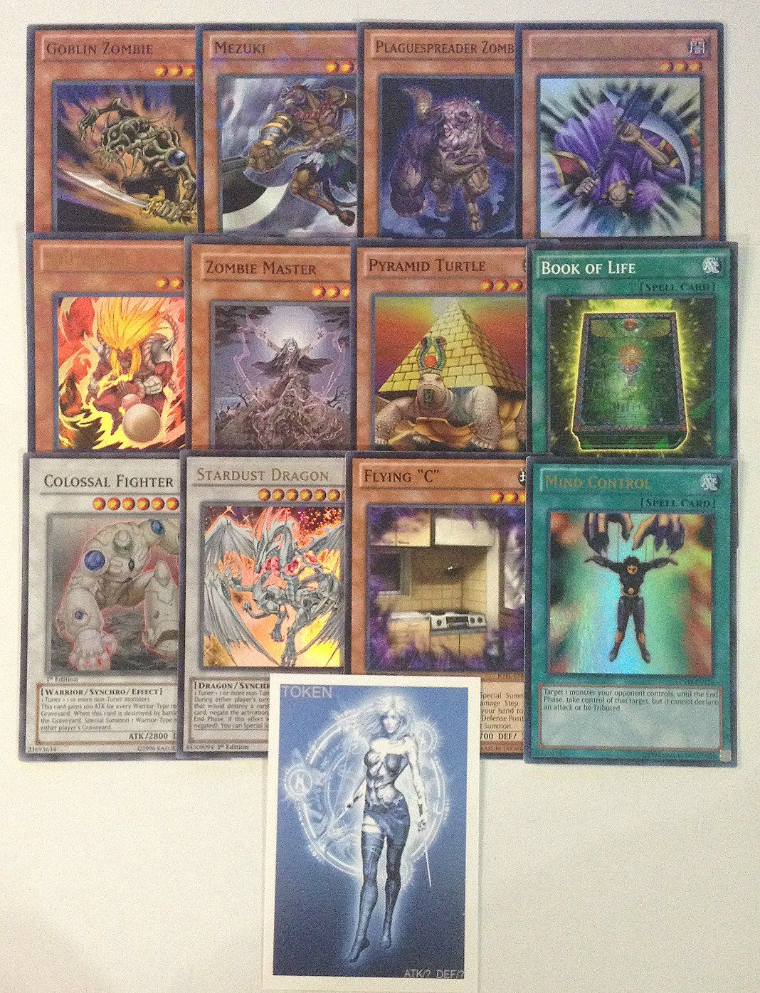 Yugioh Tournament Ready Zombie Deck With Complete Extra Side