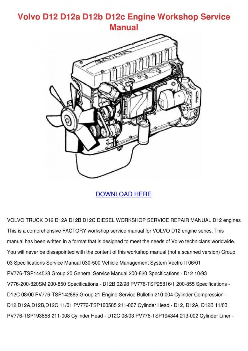 Volvo D8 Engine Belt Diagram Di 2020