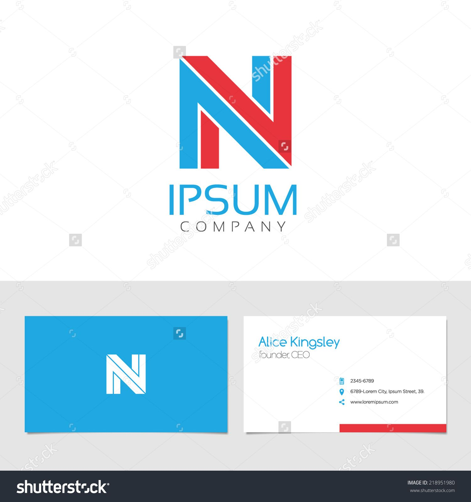 Vector graphic elegant impossible alphabet symbol identity vector graphic elegant impossible alphabet symbol identity business card in two colors letter reheart Choice Image