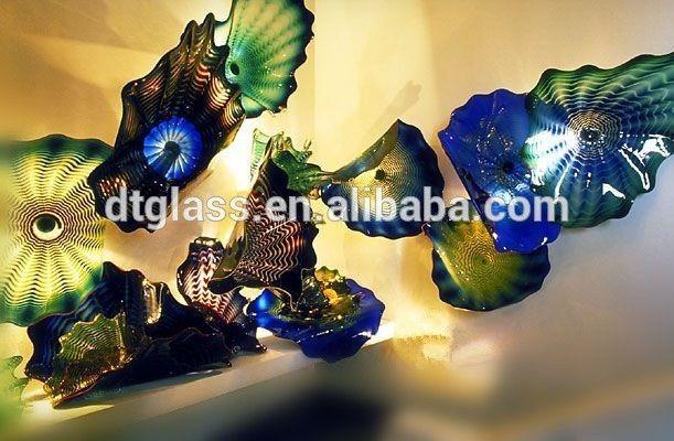 Fantastic Murano Glass Flower Plates Wall Hanging Light Art For Home ...