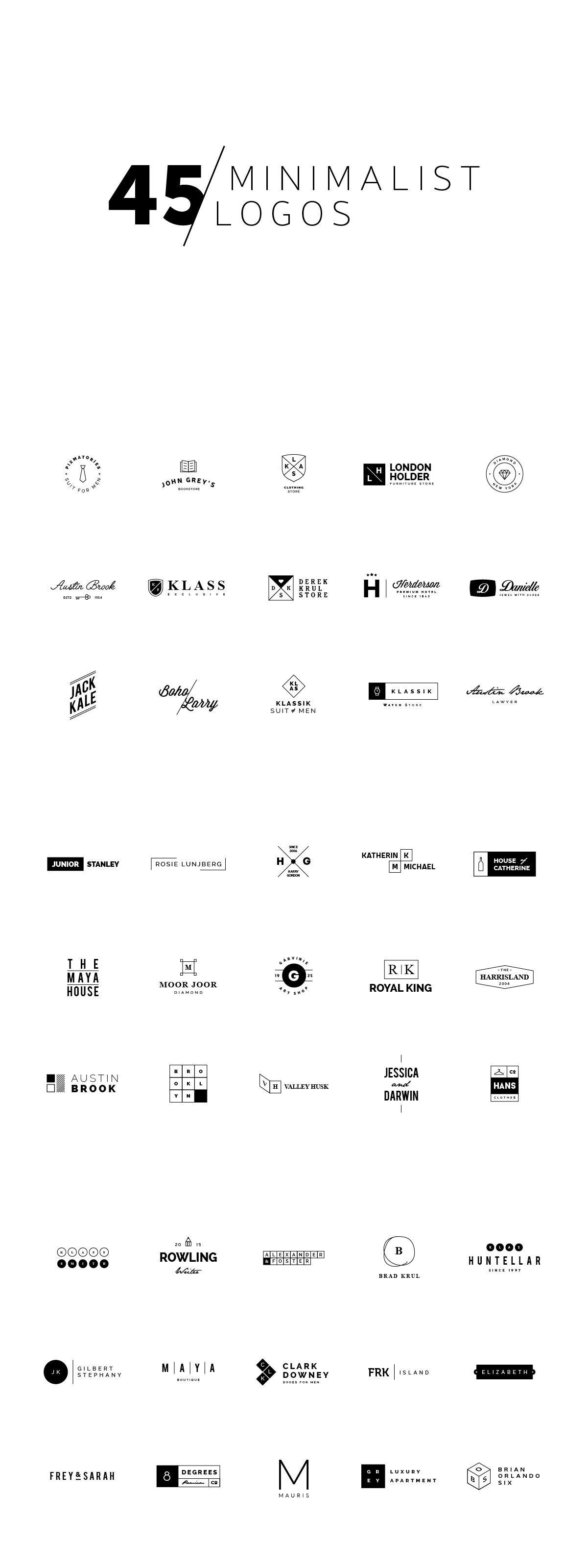 45 Minimalist Logos Photography Logo Design Minimalist Logo Typography Logo