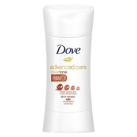 Dove Advanced Care Antiperspirant Deodorant Clear Tone Skin Renew 2 6 Oz Advanced Care Antiperspirant Deodorant Deodorant