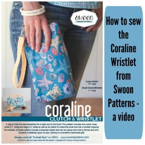 How to sew the Coraline Wristlet - So Sew Easy