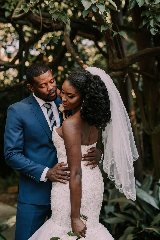 Sunken Gardens Wedding St Pete Black Couple Goals Groom In Navy Suit Wedding Photographers Wedding Garden Wedding