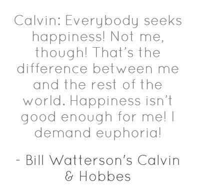 Calvin & Hobbes quote from Book Riot