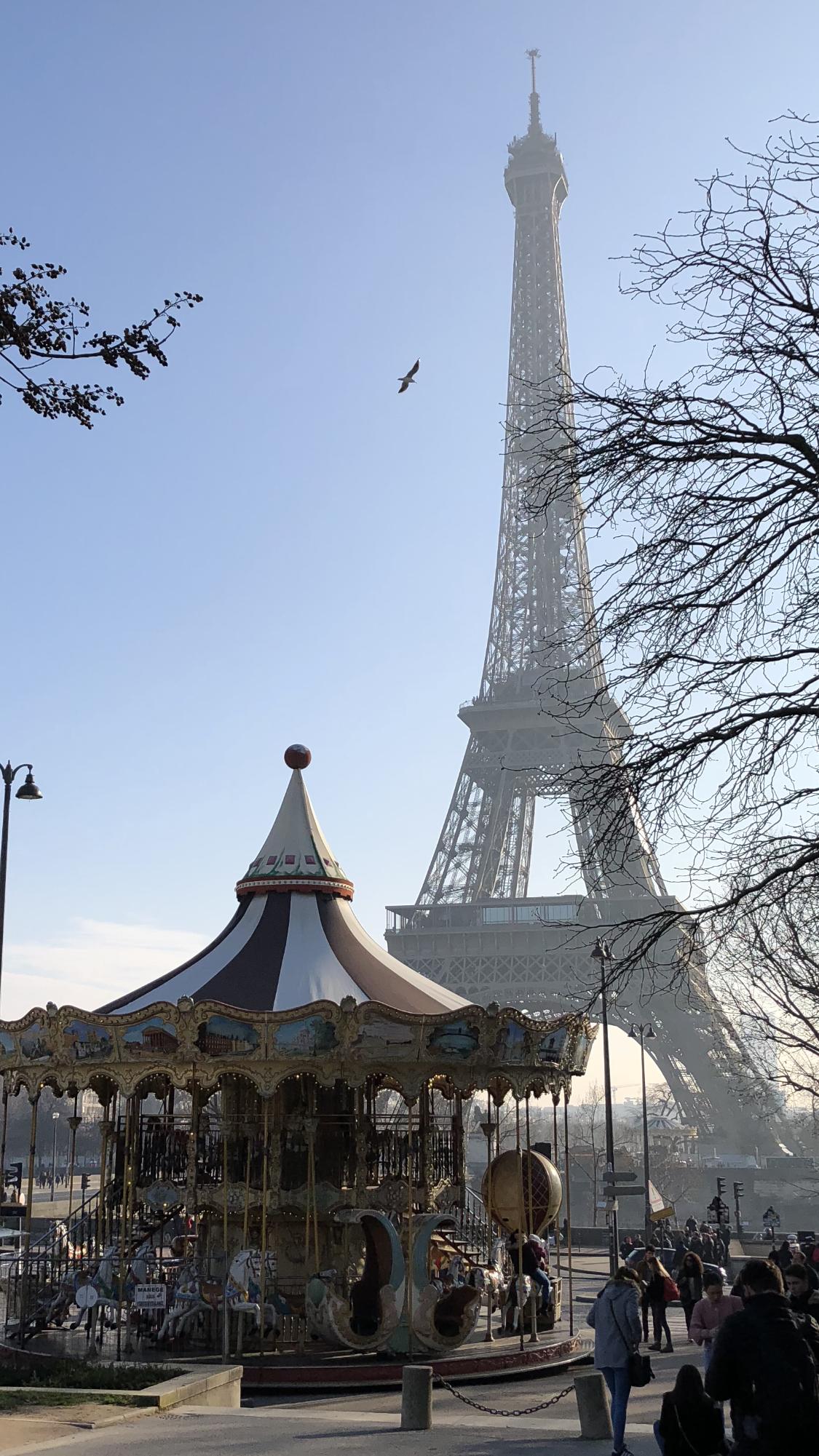 Carousel Eiffel Tower 2018 Paris Frnace برج ايفل باريس فرنسا ٢٠١٨ Eiffel Tower Photography City Lights Wallpaper Ocean Sunset Photography